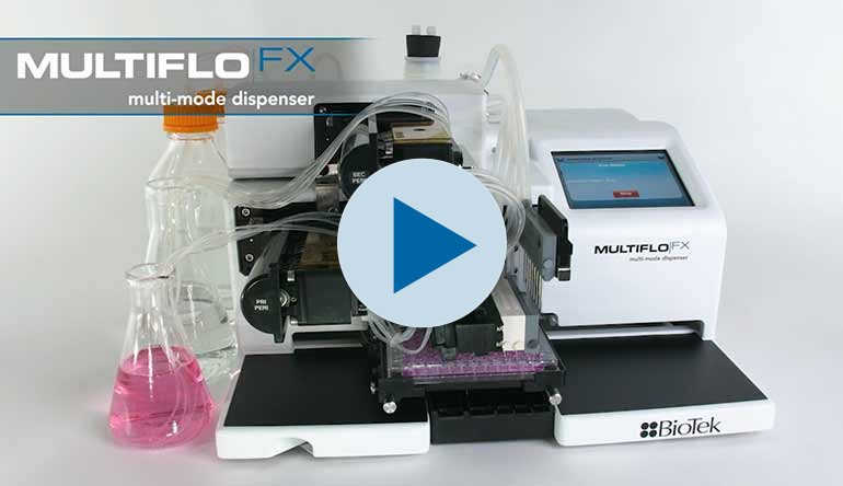 Dispensador para Microplacas MultiFlo FX con tecnología RAD